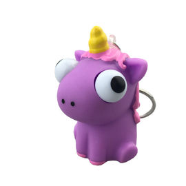 Kreatif Kartun PVC Lembut Karet Mata Unicorn Pop Out Gantungan kunci, Mainan Anime Kustom, Mata Pop Out Mainan Squeeze